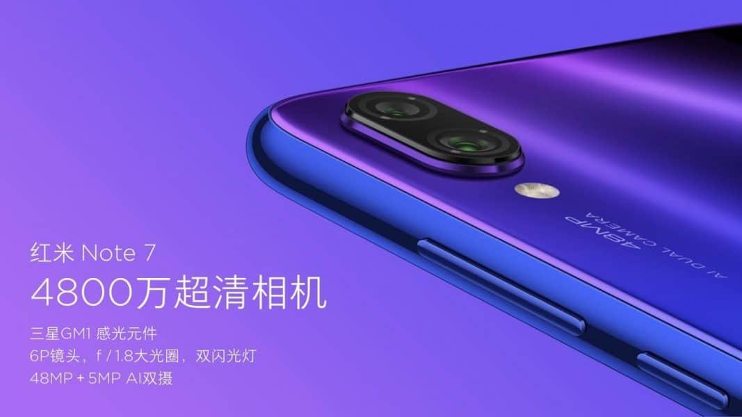 Cámara Redmi Note 7 by Xiaomi