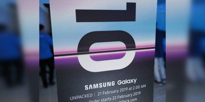 Cartel promocional Samsung Galaxy S10