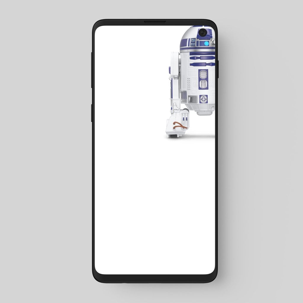 Fondo de pantalla Galaxy S10+ R2D2 de Star Wars