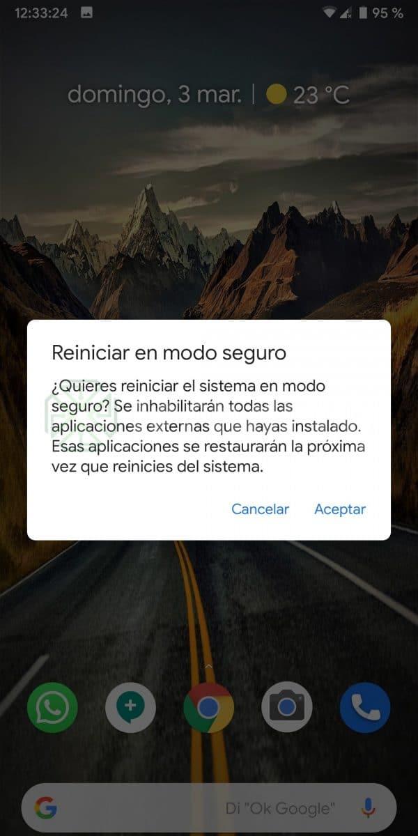 Modo seguro Android 2