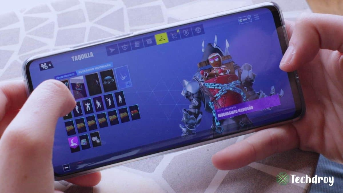 Huawei P30 Pro jugando a Fortnite