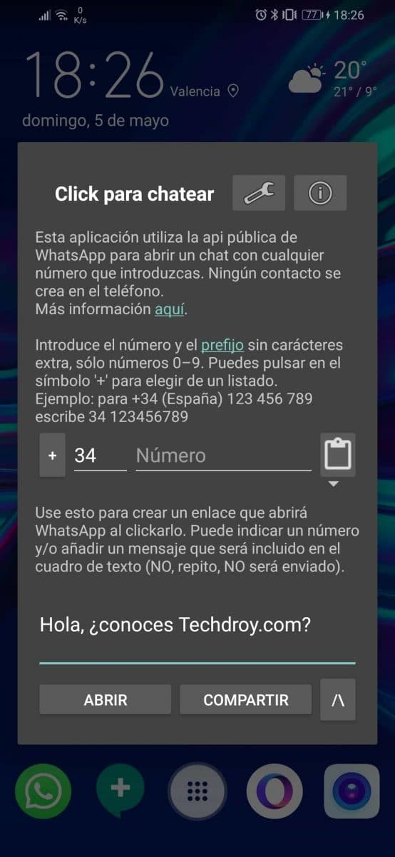 Click to chat para WhastApp