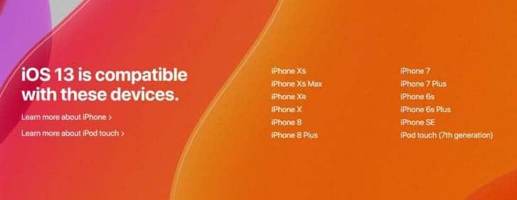 Estos son los dispositivos que actualizarán a iOS 13