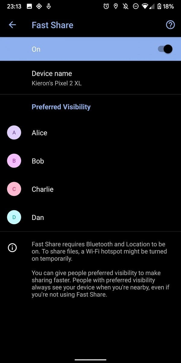 Fast-Share-para-Android-ajustes