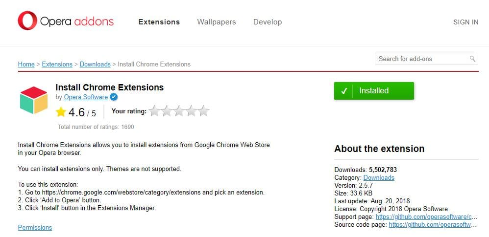 Opera-Install-Chrome-Extensions