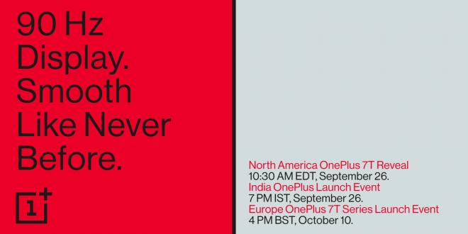 Ya tenemos fecha de presentación para los nuevos OnePlus 7T y 7T Pro