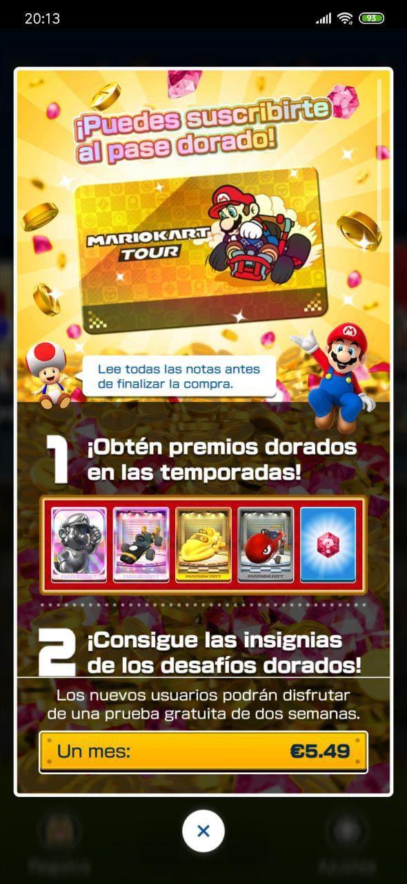 suscripcion-mensual-Mario-Kart-Tour