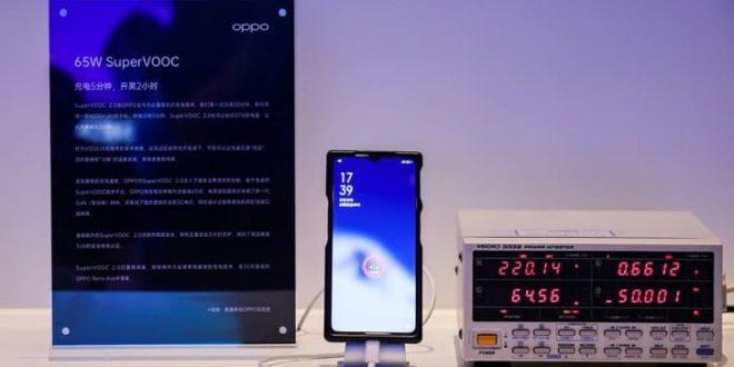 Oppo presenta la tecnología SuperVOOC Fast Charge 2.0 de 65W, será incluida en el Reno Ace